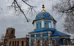 Храм Успения в Решном, XIX век