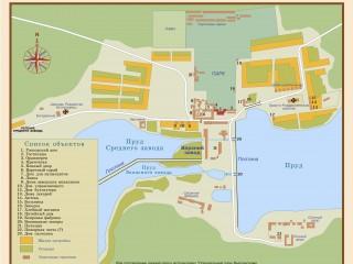 План села Выкса 1820-х гг.