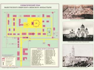 Схематический план Иверского женского монастыря, Выкса