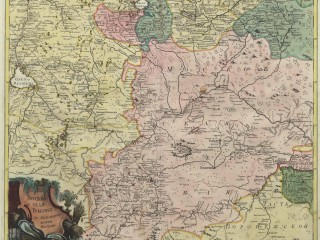 Атлас Российской империи, 1745 г. №4  Московская губерния с лежащими вкруг местами